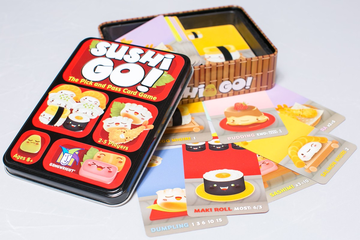 Sushi Go!:  Fun little drafting game for those who have no idea what drafting is