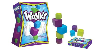 Wonky: Card game meets stacking game for some fun, strategic play!