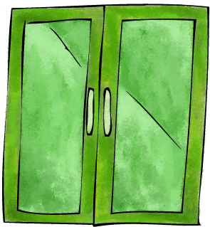 the SECRET to green glass doors