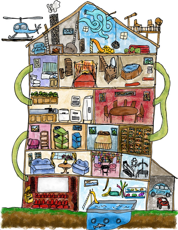 Inside House Drawing: Draw Your Dream House