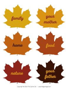 Thanksgiving gratitude talking