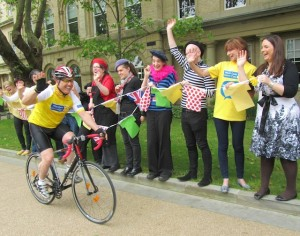 volunteering from home: Tour de France fundraising