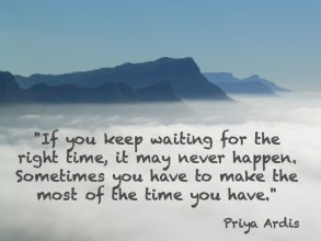 The right time quote - T is for Time