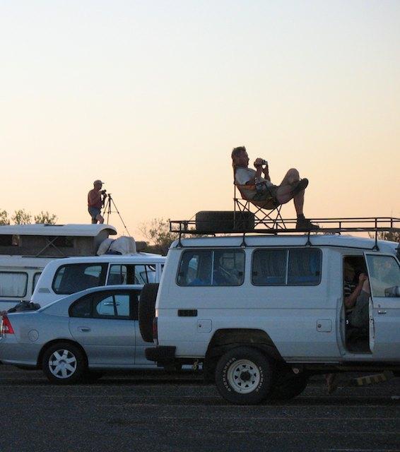Uluru sunset camper vans - a month in the Australian Outback
