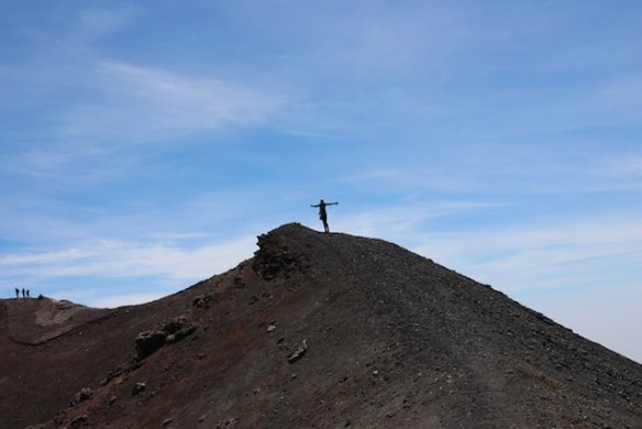 25 experiences I'm going to have before I die - Julie Sykes at Mount Etna crater - The Gap Year Edit