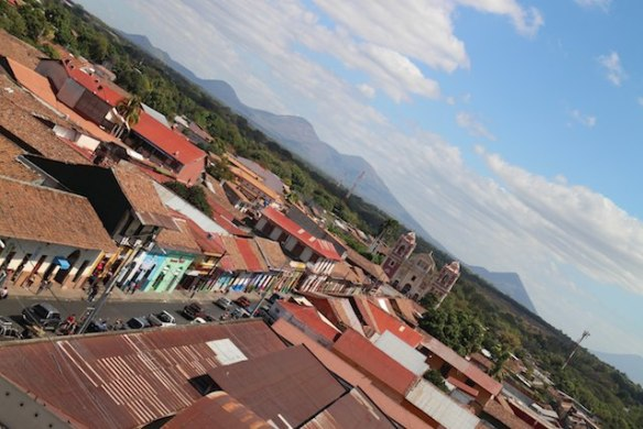 visit volcanoes in Nicaragua - view from Leon cathedral