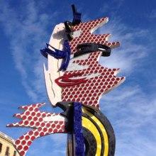 Barcelona Face. Barcelona sculpture sea