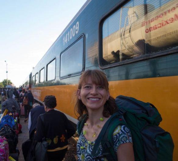 copper canyon railway tickets - boarding the train at El Fuerte