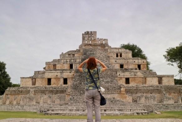 Edzna Mayan ruins Campeche main plaza