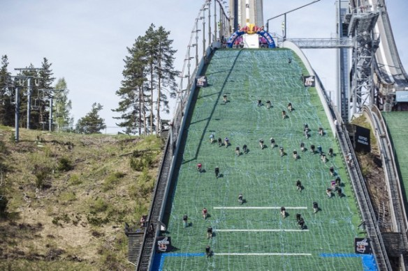 The Red Bull 400 ski jump run