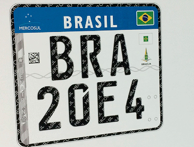 Placa de Carro Mercosul