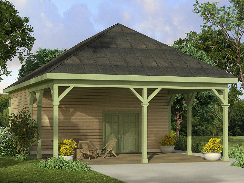 Carport Plans Carport Plan With Attached Workshop 051g 0088 At