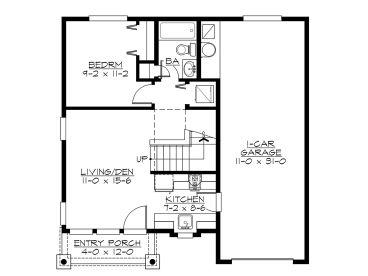 Garage Apartment Plans 2 Bedroom Plan