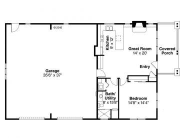 Garage Apartment Plans 1 Story Garage Apartment Plan With 2 Car Garage 051g 0079 At Www Thegarageplanshop Com