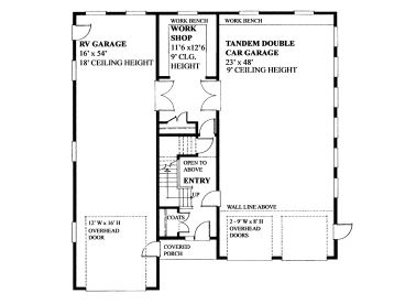 Tandem Garage House Plans