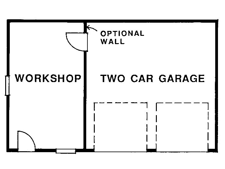 Garage Workshop Plans  TwoCar Garage Plan with Workshop  033G0009 at TheGaragePlanShopcom