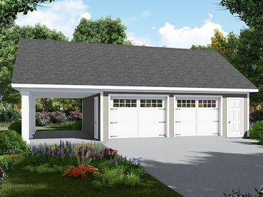Garage Plans With Carports The Garage Plan Shop