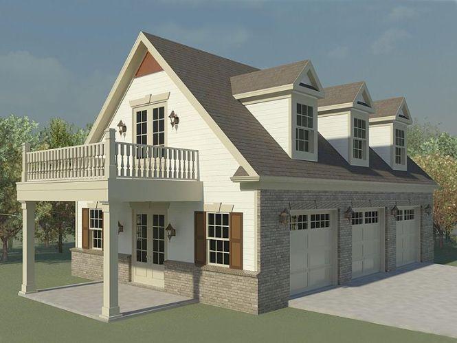 Garage Loft Plan 006g 0124