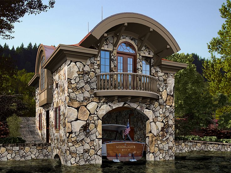 Boat House Plans  Unique Boat House Plan Design  035G0017 at wwwTheGaragePlanShopcom