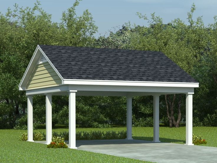 Carport Plans 2 Car Carport Plan With 8 Ceiling 006g 0009 At