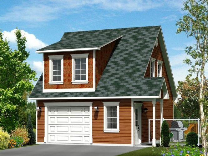 Garage Apartment Plans 1 Car Plan With