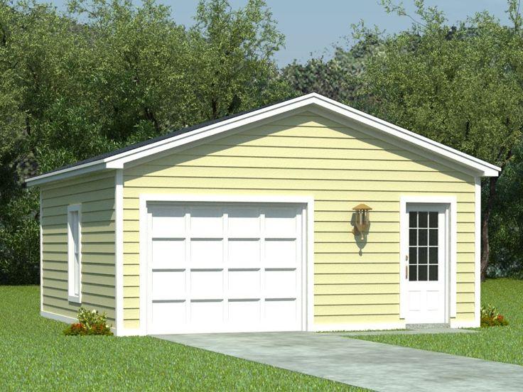 OneCar Garage Plans  1Car Garage Plan with Storage