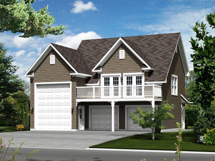 Garage Apartment Plans  TwoCar Garage Apartment Plan with RV Bay  072G0035 at