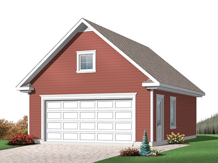 TwoCar Garage Plans  Detached 2Car Garage Plan with Loft  028G0033 at wwwTheGaragePlanShopcom