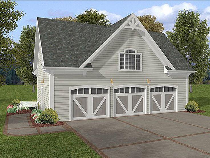 3Car Garage Plans  ThreeCar Garage Loft Plan with Siding Faade Design 007G0006 at