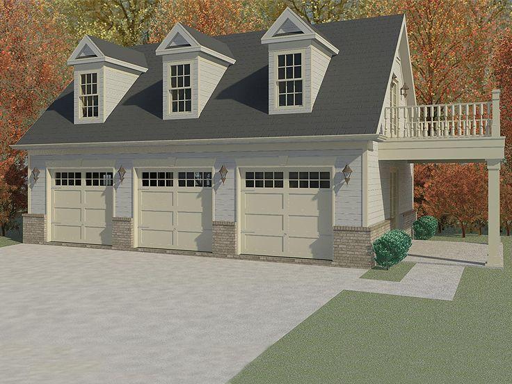 Garage Apartment Plans  3Car Garage Apartment Plan with Guest Quarters  006G0115 at