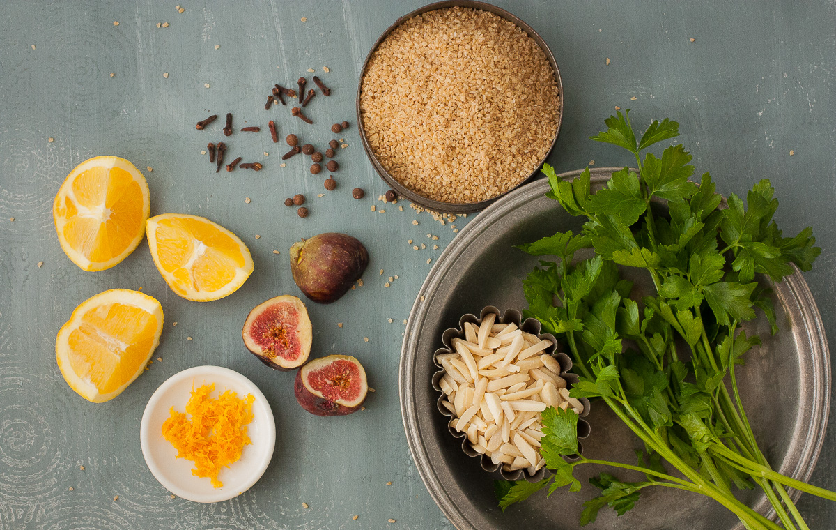 Tabouli with Figs and Orange