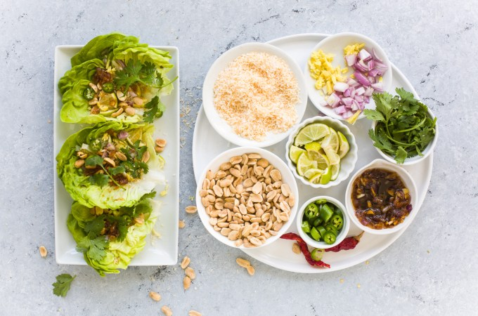 Miang Kham: Thai Green Mouthfuls with Ginger Garlic Sauce