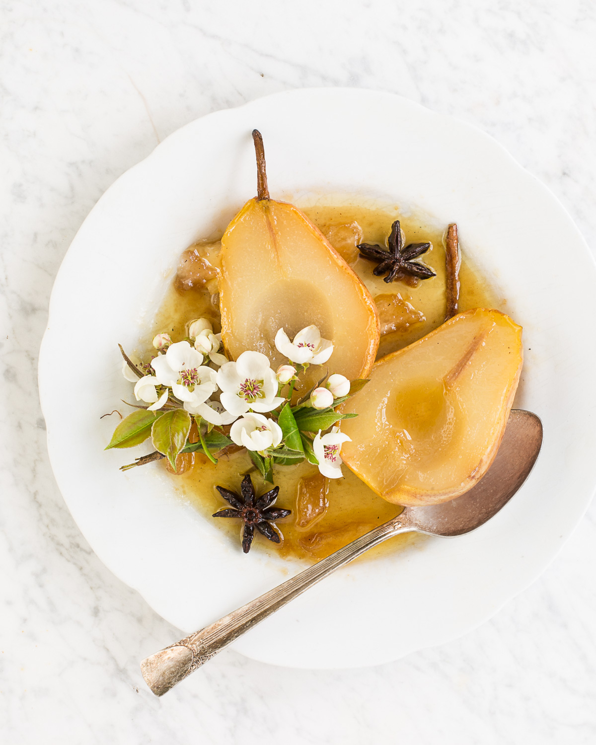 Baked Pears with Vanilla, Cinnamon, and Star Anise