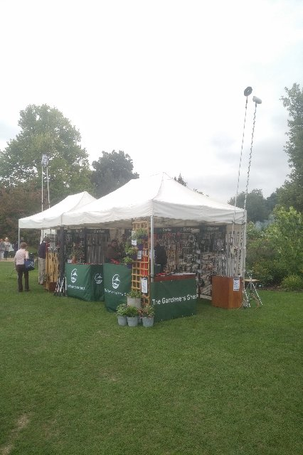 The Gardeners Show Shop marquee