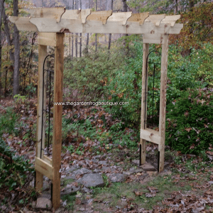 How to build a rustic 6' garden arbor, DIY garden arbor