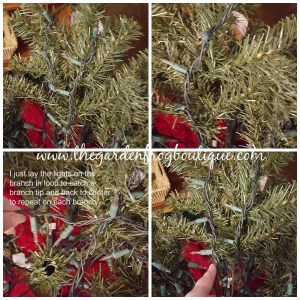 How to Put Lights on an Artificial Christmas Tree