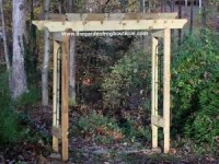 How to build a rustic 6' garden arbor