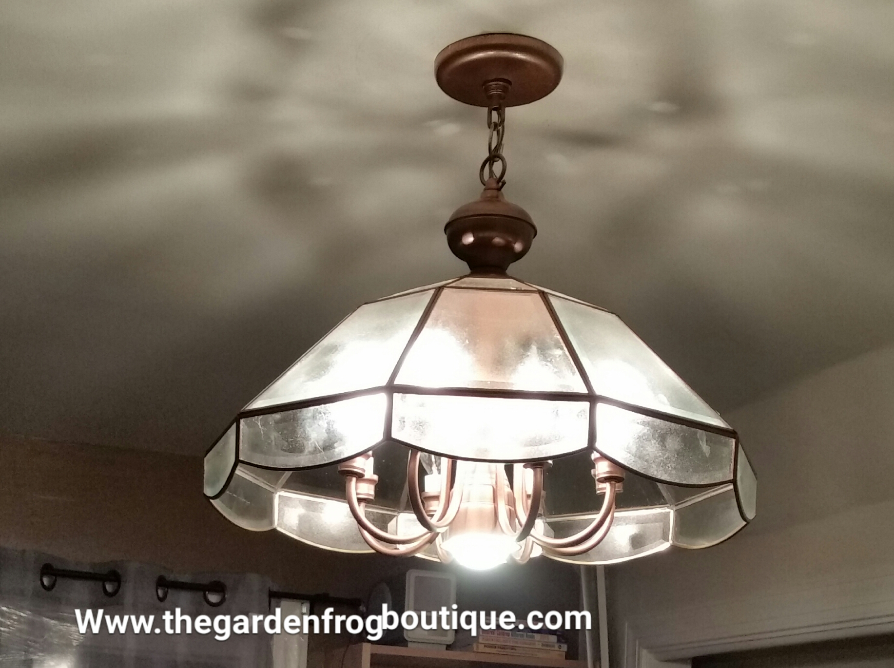 Update a chandelier with rustoleum spray paint the garden frog update a chandelier with rustoleum spray paint rustoleum ripple effect rustoleum copper hammered spray aloadofball Images