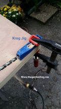 I have a Kreg Jig so I decided to use it to attach the top to each other. I used 4 Kreg Jig screws (note the end of the door will have more support)