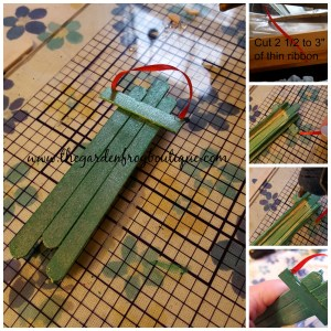 Create a Photo Craft Stick Sled Ornament