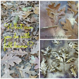 Create a Gold Leaf with Rustoleum Metallic spray paint