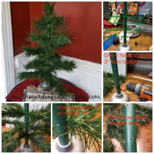 Create an Artificial Tabletop Christmas Tree