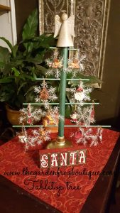 Create Your Own Tabletop Christmas Tree, Dollar Tree plunger craft, children's craft idea tabletopper