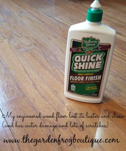 How I Shined my Wood Floors for $6, shine engineered wood floors, shine hardwood floors