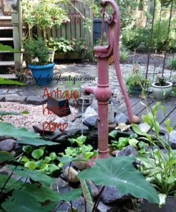 How to build an antique hand pump fountain pond in the garden