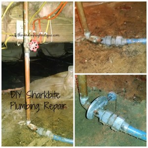 Main water line repair with Sharkbite, Home Depot, water line repair