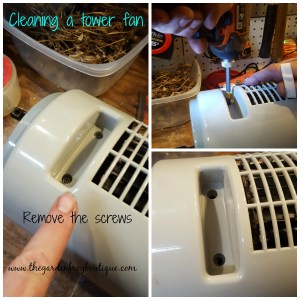 Don't throw away that tower fan, clean and lube the fan motor