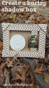 Create a burlap shadowbox