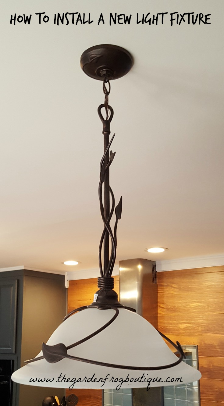 New light fixture dolgular how to install a new light fixture the garden frog boutique arubaitofo Image collections