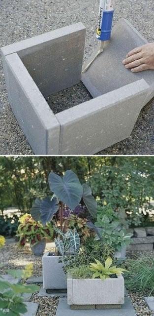 diy concrete garden projects